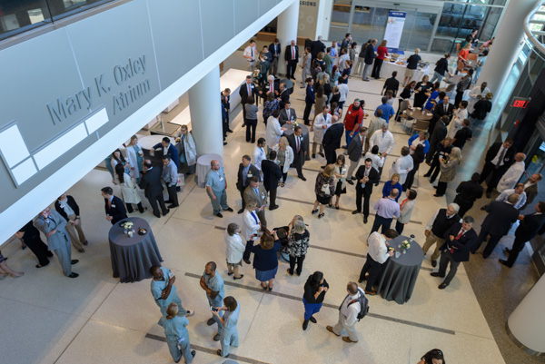 Guests enjoyed light refreshments and toured several floors of the new hospitals. Photo by  Jesse S. Jones