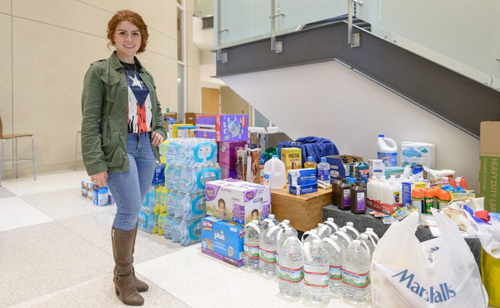 Lymaries Velez, a second-year student in the UF College of Medicine, organized a donation drive to collect much-needed supplies for residents of Puerto Rico in the wake of Hurricane Maria. She hopes to continue to provide aid to the island through future events.