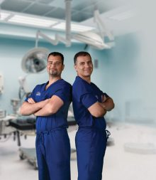 Kourosh Tavanaiepour, D.O., left, specializes in complex spine surgery and Daryoush Tavanaiepour, M.D., specializes in skull base surgery.
