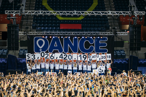 Dance Marathon at the University of Florida, the largest student-run philanthropy in the Southeast, reached a milestone this year with a total of $3,026,420.19 raised in support of Children's Miracle Network Hospitals at the UF Health Shands Children's Hospital. Since 1995, Dance Marathon at UF has donated more than $15.2 million to the hospital.