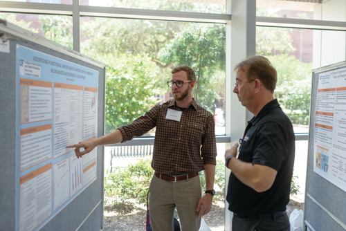 Faculty and students compared notes on vital issues during the UF College of Public Health and Health Professions' annual Research Day.
