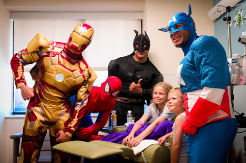 Cover for Superheroes at UF Health Shands Issue