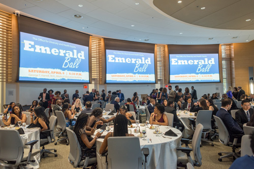The UF College of Medicine wrapped up the Celebration of Diversity Week in style at the Office of Diversity and Health Equity Emerald Ball, held in the George T. Harrell, M.D., Medical Education Building.